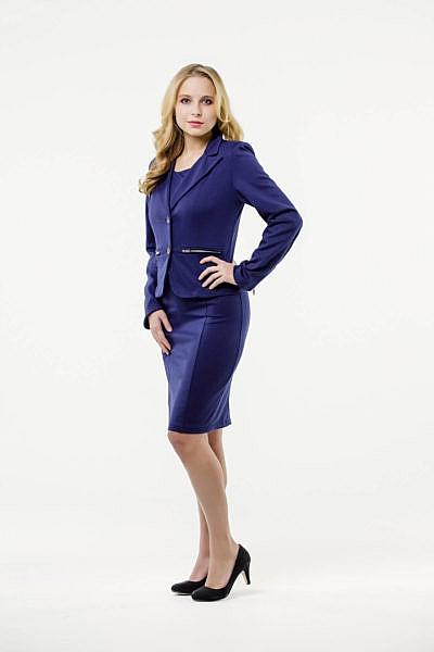 Mietkleidung Damen Businesskleidung mieten leihen online Damenkostüm Blazer Hostessenkostüm blau