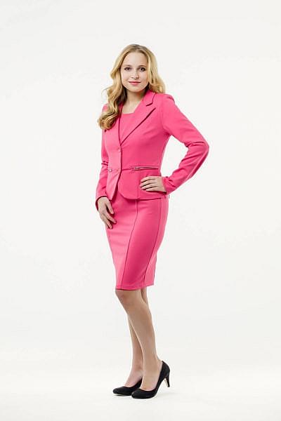 Mietkleidung Damen Businesskleidung mieten leihen online Damenkostüm Blazer Hostessenkostüm pink